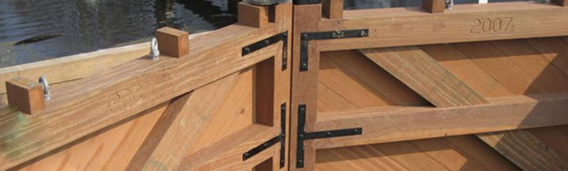 houten sluisdeur