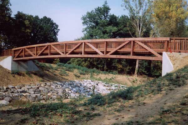 Vakwerkbrug grootlemmer bruggen - Houten brugtuin ...